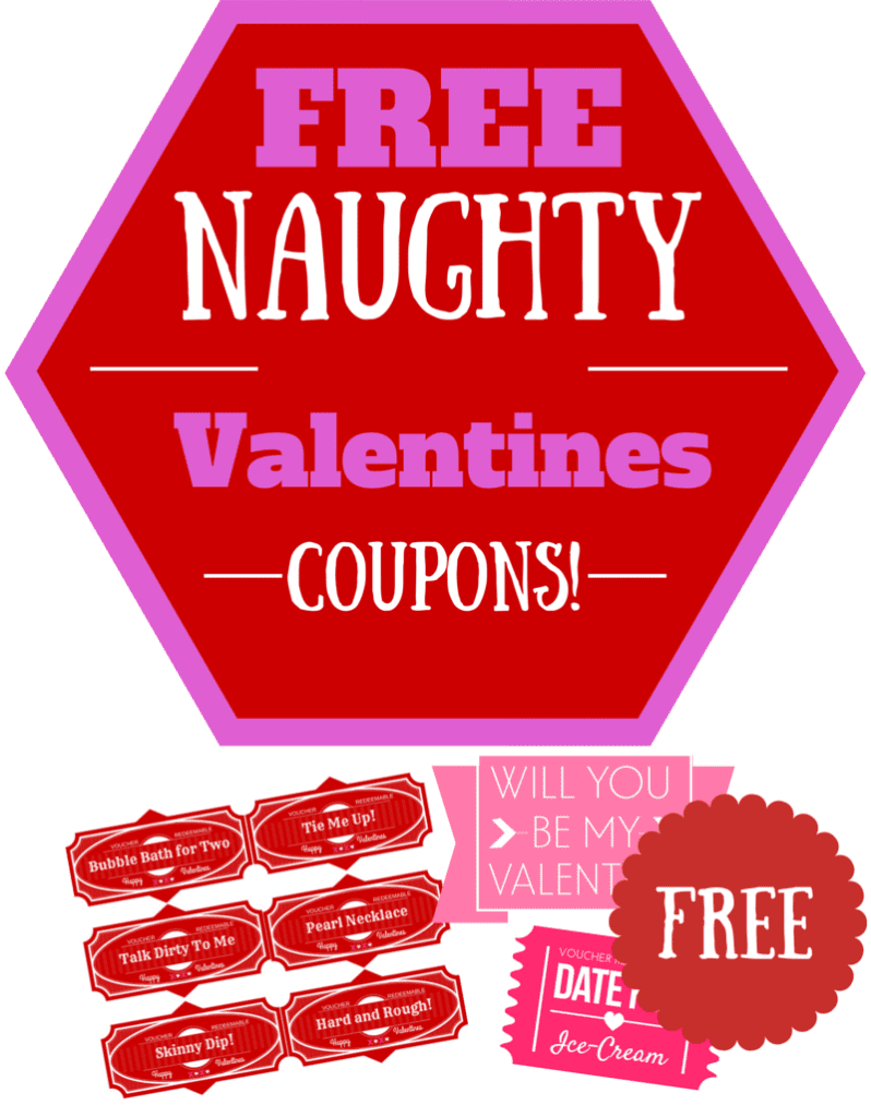 Naughty Valentines Day Coupons Pinterest