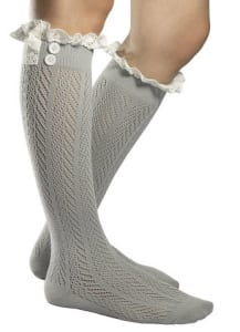 Knee hi socks gray