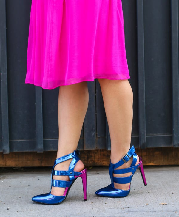 Shoedazzle Blue Heels