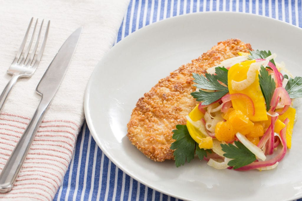Blue Apron - Matzoh-Crusted Chicken