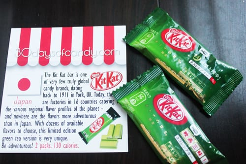 30 days of candy - Japan Green Tea Kitkat