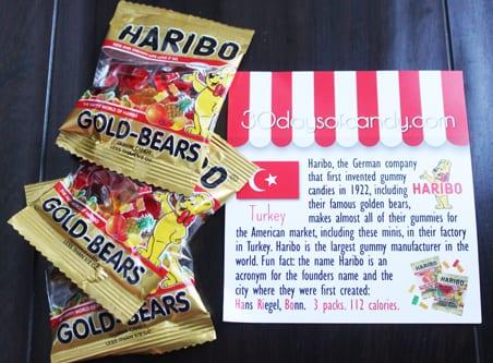 30 days of candy - Turkey Haribo