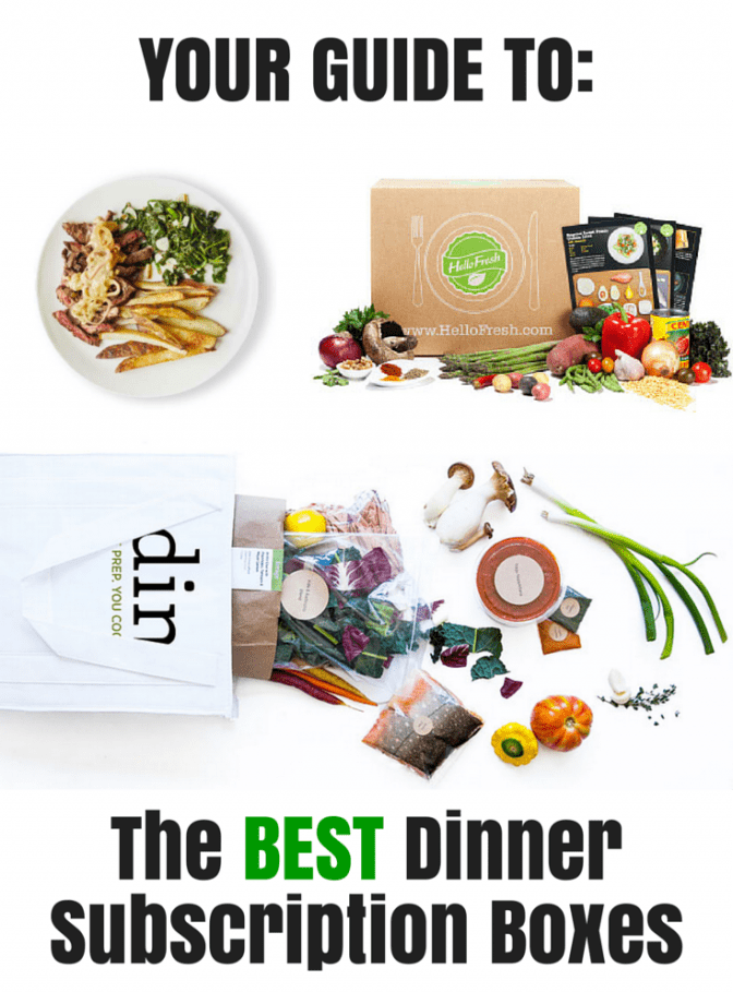 YOUR GUIDE TO the best dinner subscription boxes