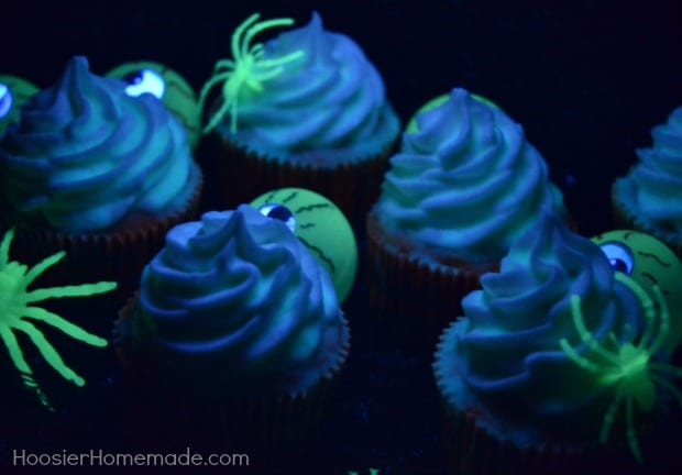 Glow in the Dark Cupcakes