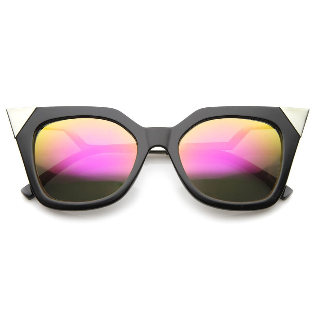 Zero UV MODERN WOMEN'S HOT TIP POINTED CAT EYE SUNGLASSES