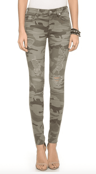 True Religion Women's Halle Mid Rise Skinny Jeans