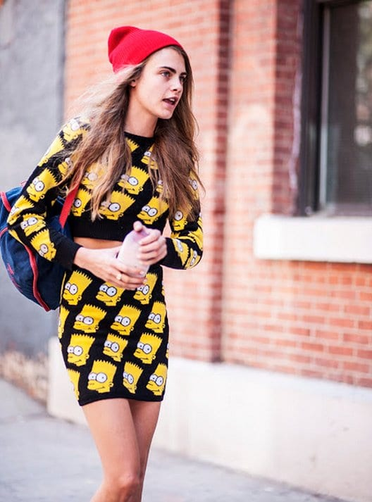 loud prints Cara delevingne